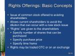 rights offerings basic concepts