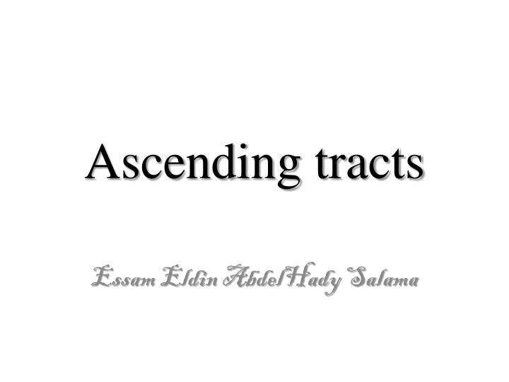 ascending tracts n.