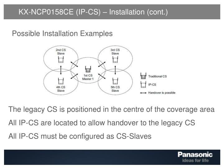 KX-NCP0158CE (IP-CS) – Installation (cont.)