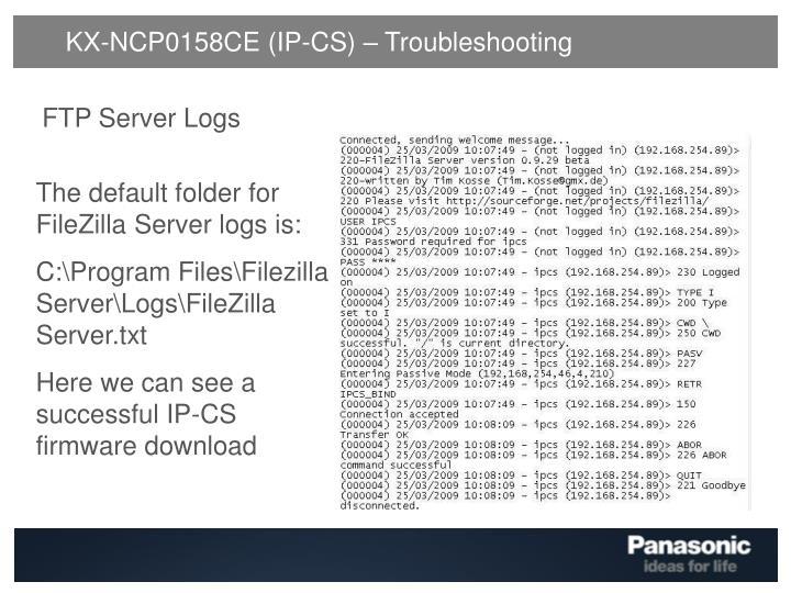 KX-NCP0158CE (IP-CS) – Troubleshooting