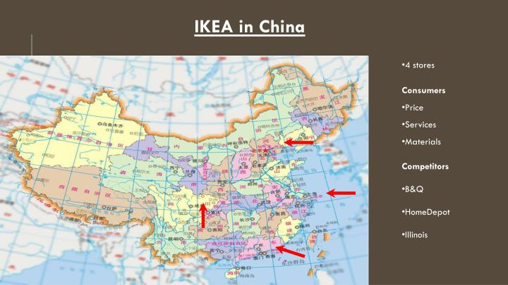 ikeain china Did you know that ikea uses 1% of the world's wood every year or that 1 out of 10 europeans is conceived in an ikea bed (wonder how did they count this) what is more interesting, is how swedish retailer executed its foreign operations however, ikea's entry to china is of particular interest although.