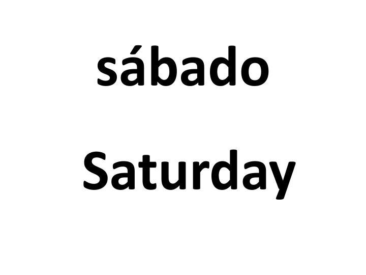 sábado