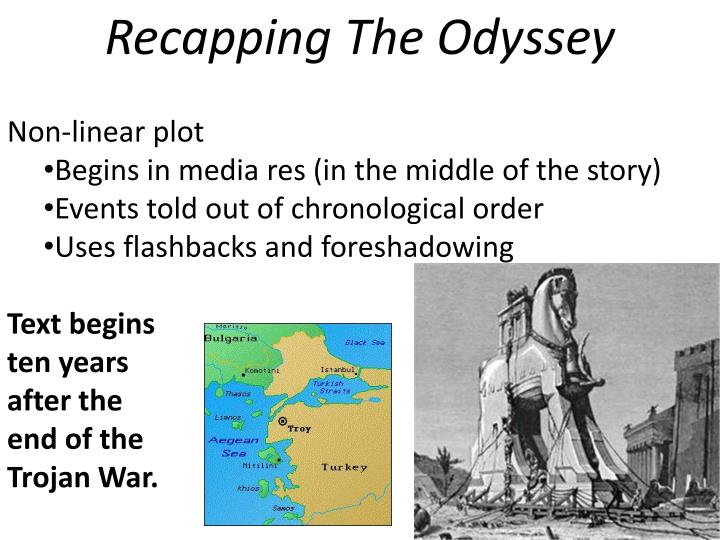 homer begins the odyssey with the Homer begins the odyssey at the site of ithaca this is ironic as ithaca is the home land of odysseus and where is long enduring voyage will end by introducing ithaca so soon in the story the reader is able to relate to why odysseus is longing to go home so much.