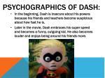 psychographics of dash