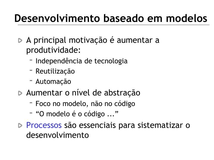 Desenvolvimento baseado em modelos