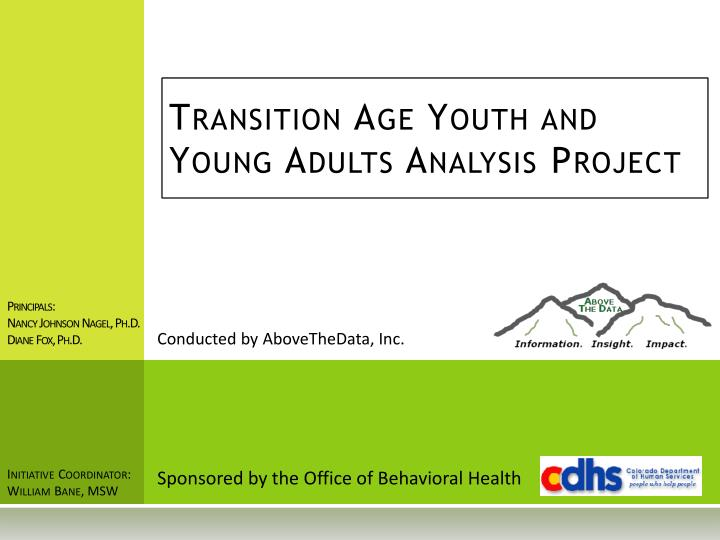 transition age youth and young adults analysis project
