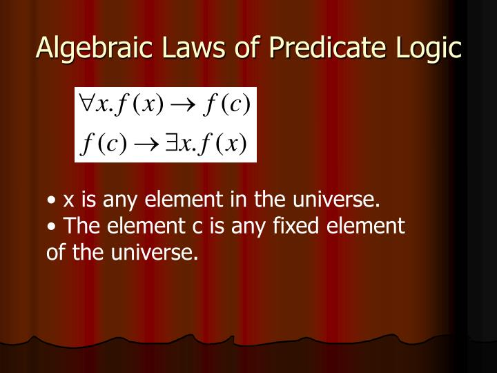 Algebraic Laws of Predicate Logic
