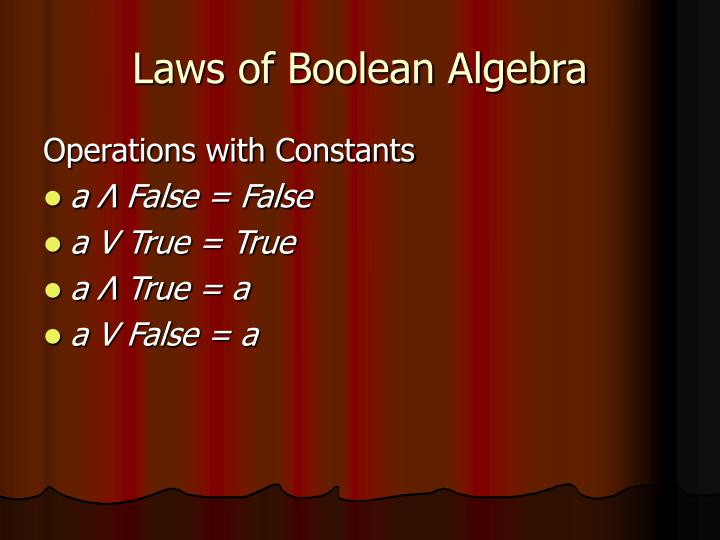 Laws of Boolean Algebra