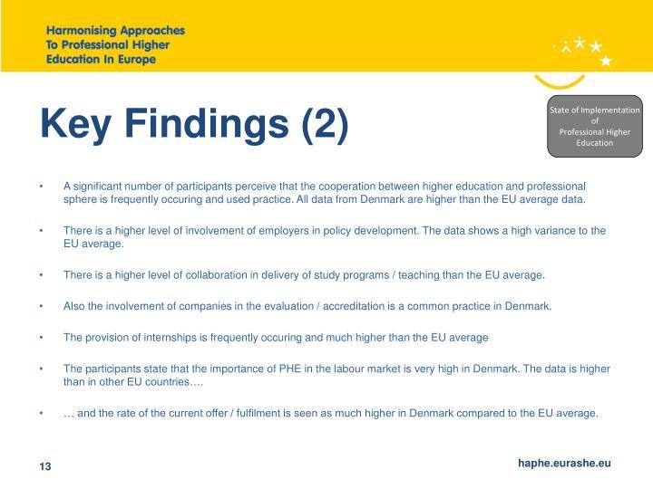 Key Findings (2)