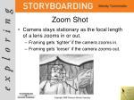 zoom shot
