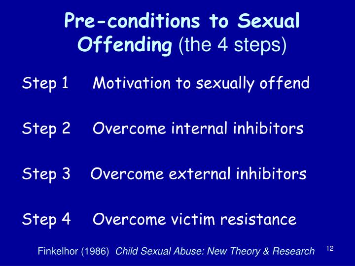 Pre-conditions to Sexual Offending