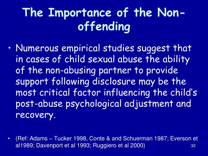 The Importance of the Non-offending