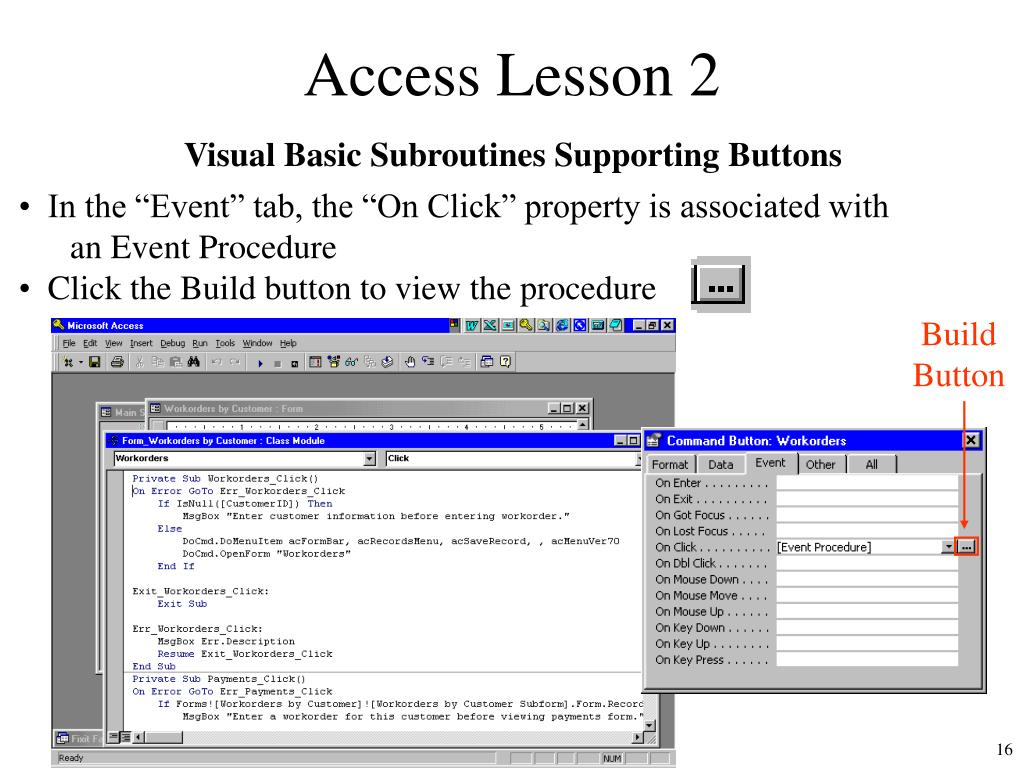 PPT - Microsoft Access Lesson 2 PowerPoint Presentation - ID