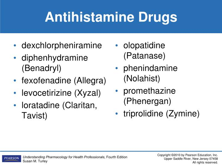 Antihistamine Drugs PPT - Ears, Nose, and ...
