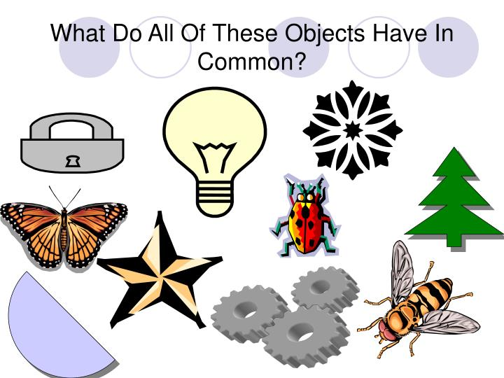 What do all of these objects have in common