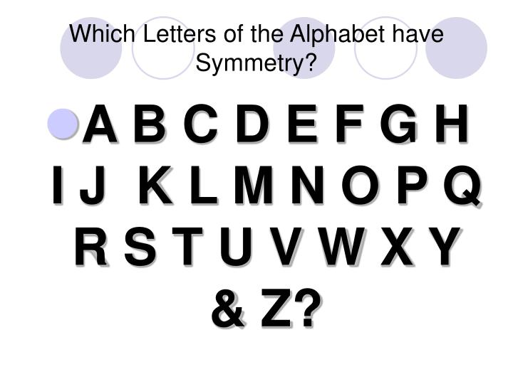 Which Letters of the Alphabet have Symmetry?