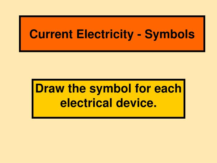 Ppt Current Electricity Symbols Powerpoint Presentation Id3086204