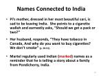 names connected to india