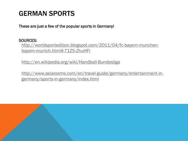 German sports