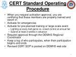cert standard operating procedure