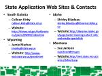 state application web sites contacts