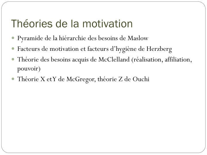 Théories de la motivation