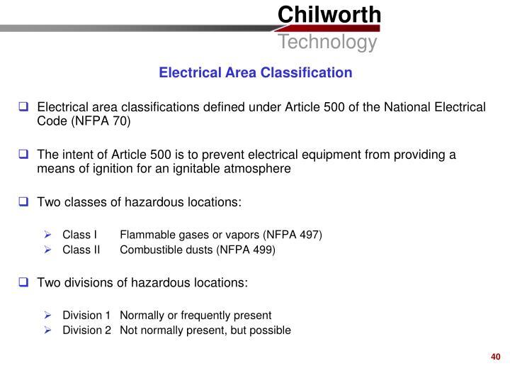 Electrical Area Classification