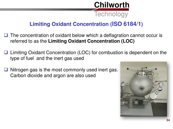 Limiting Oxidant Concentration (