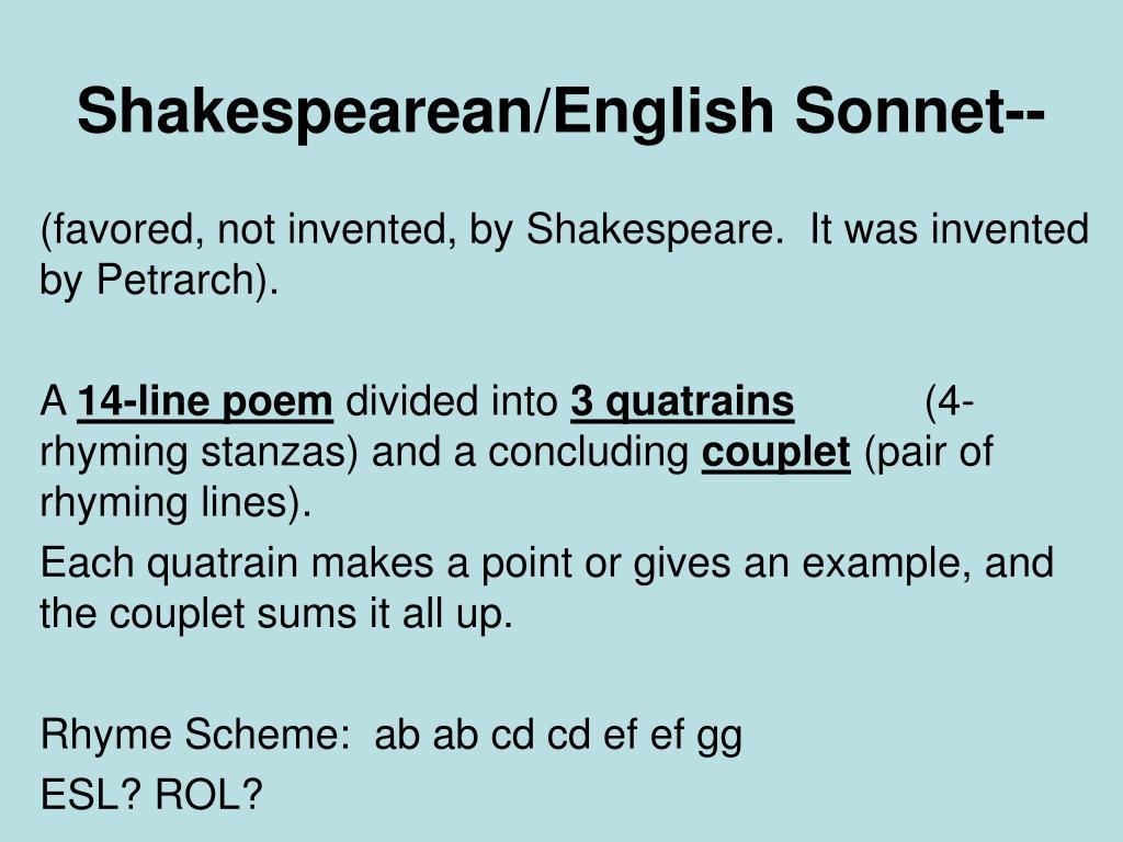 sonnet rhyme scheme ababcdcdefefgg