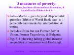 3 measures of poverty world bank institute of international economics sala i martin tables 6 1 6 3