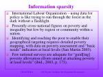 information sparsity