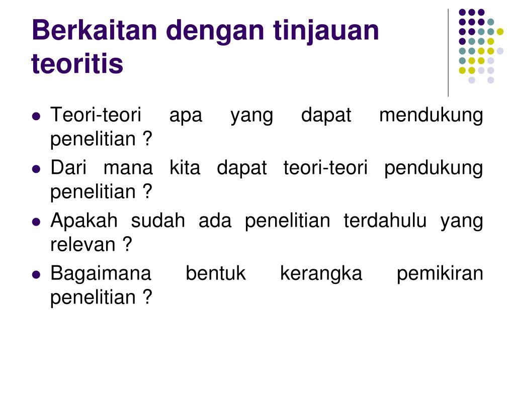 PPT - DALAM SEBUAH PENELITIAN HIPOTESIS DAPAT DINYATAKAN ...