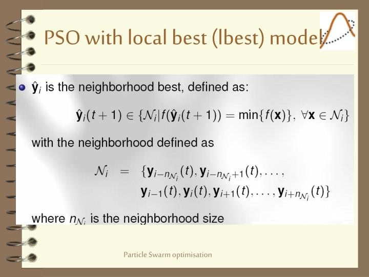PSO with local best (lbest) model
