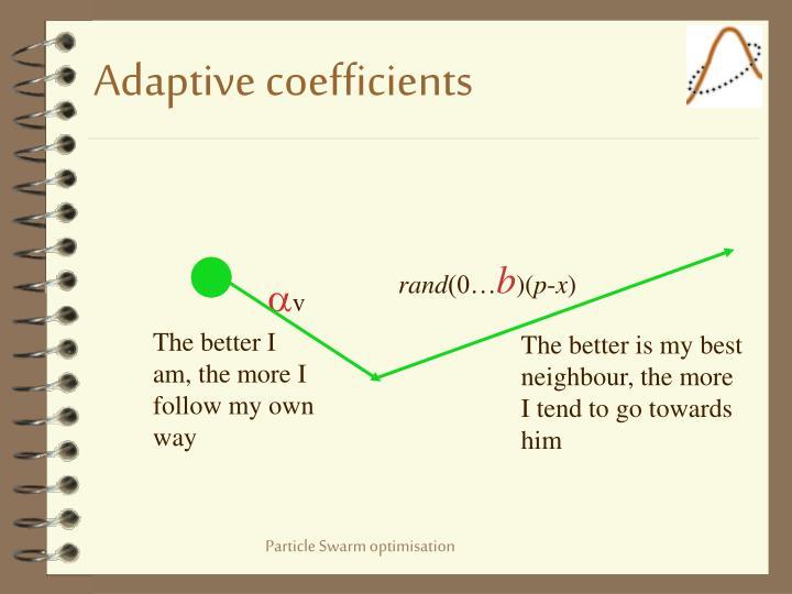 Adaptive coefficients
