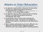 attacks on data obfuscation