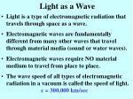 light as a wave