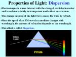 properties of light dispersion
