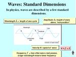 waves standard dimensions