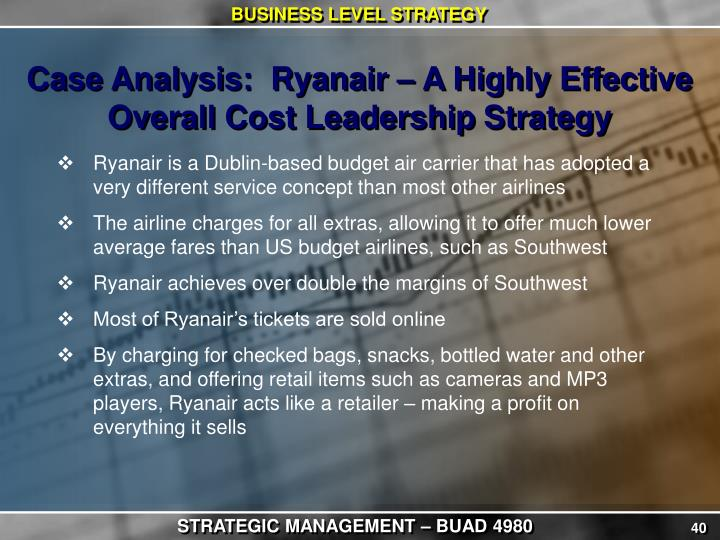 ryanair cost leadership strategy