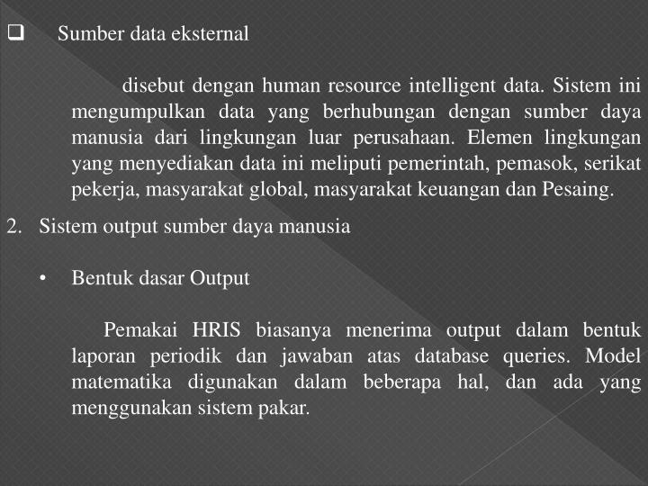 Sumber data eksternal