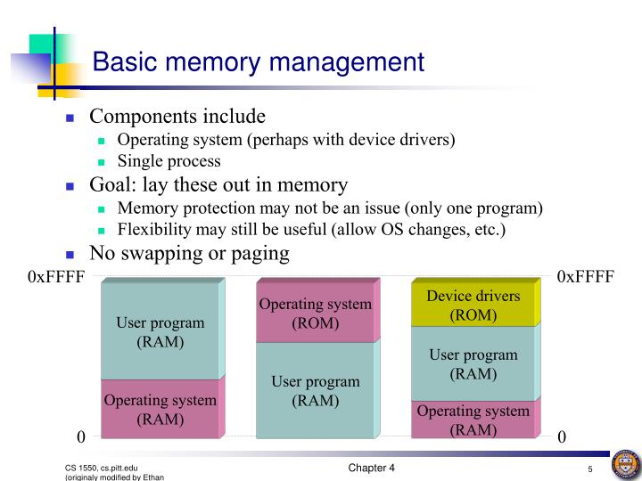 comparison of memory management systems of bsd The memory management system is one of the important parts of the operating system its basic function is to manage the memory hierarchy of ram and secondary memory devices there is always a need of more memory than physical memory.