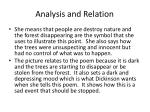 analysis and relation