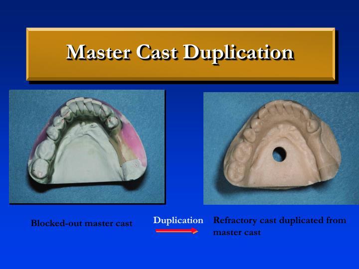 Master Cast Duplication