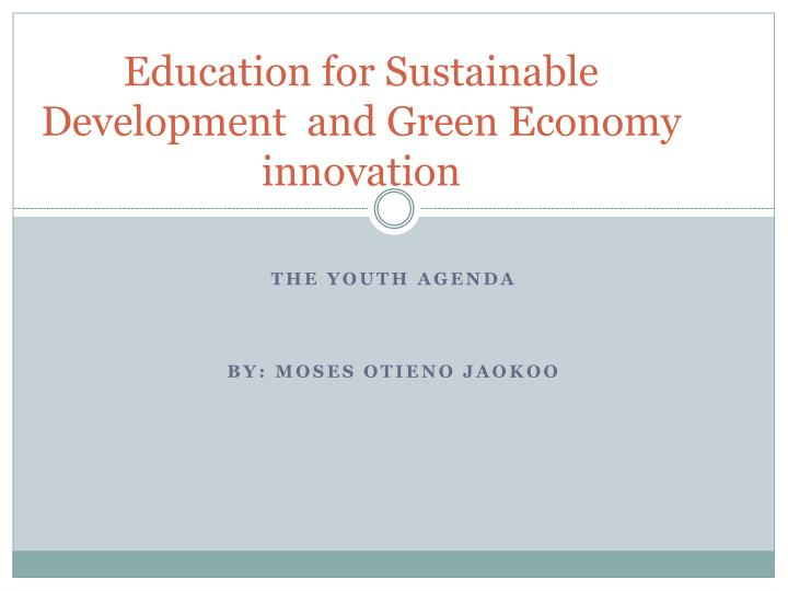 education for sustainable development and green economy innovation n.