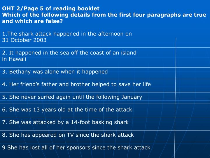 OHT 2/Page 5 of reading booklet