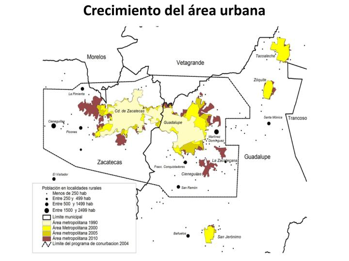 Crecimiento del área urbana