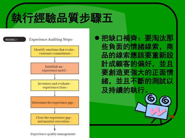 執行經驗品質步驟五
