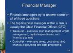 financial manager