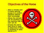 objectives of the horse