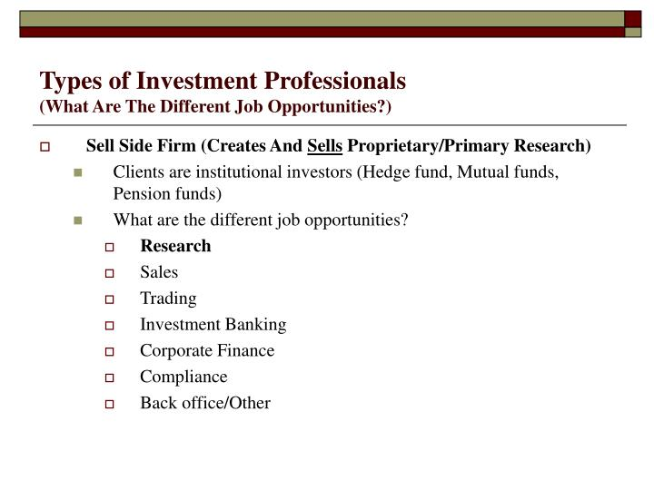 Different types of investment opportunities indicateur adx forex trading